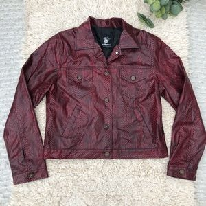 Dollhouse red and black snake print jacket